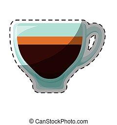 Color espresso glass icon design
