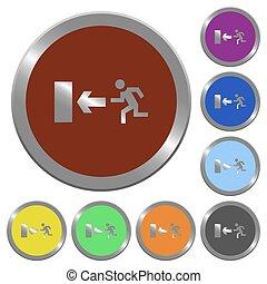 Color exit buttons