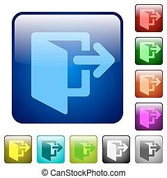 Color exit square buttons