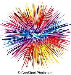 Color explosion - Abstract color explosion as symbol for ...