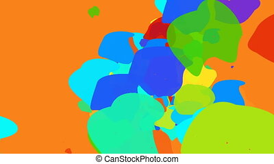 Abstract Psychedelic flow of color shapes - Color explosion....