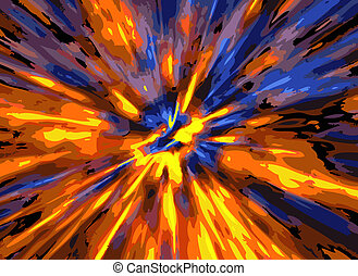 color explosion background