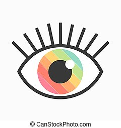 Color eye symbol