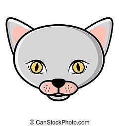 color face cat icon