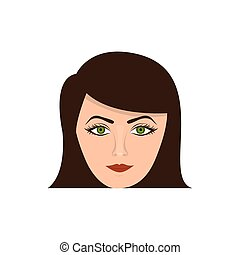 color face formal woman icon
