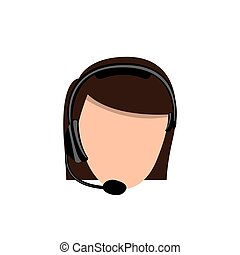 color face woman technological services icon