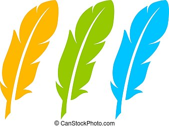 Color feather icon