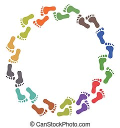 color feet around - isolated color feet around with copy...