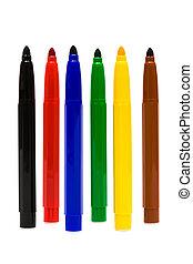 color felt-tip pens - Beautiful color felt-tip pens on a...