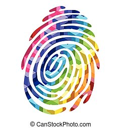 color fingerprint - Abstract Color finger print light