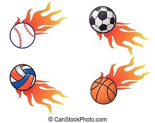 color fire ball logo icons