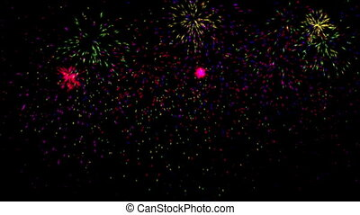 color fireworks abstract
