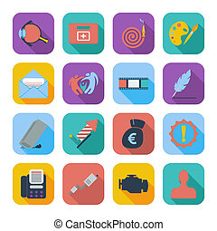 Color flat icons 8