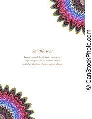 Color floral page corner design template
