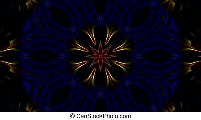 color flower pattern, Fantasy fiber tissue, spiderweb.