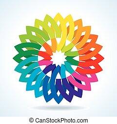 Color flower wheel background
