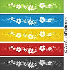 Color flowers background