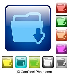 Color folder download square buttons