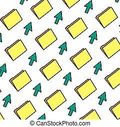 color folder file with arrow cursor background