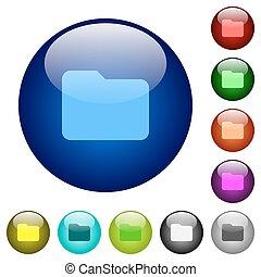Color folder glass buttons