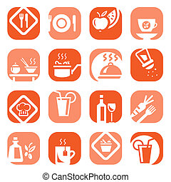 color food type icon set