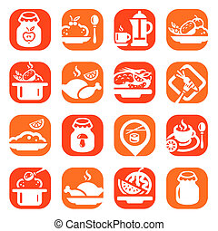 color food vector icons
