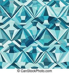color frío, diamante, seamless, patrón