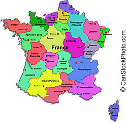 Color France map