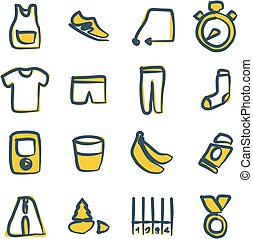color, freehand, corriente, 2, iconos