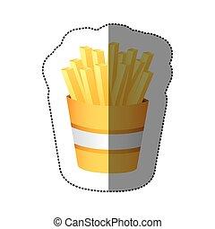 color fries french fast food, vector illustration design