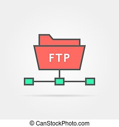 color ftp protocol simple icon