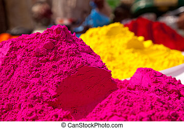 Different colors for sale in india on the occasion of holi (holli)festival
