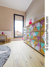 Color furniture in baby room