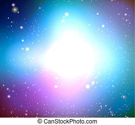 Color Galaxy - Colorful bright galaxy, vector art...