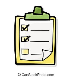 color, garabato, lista, cheque