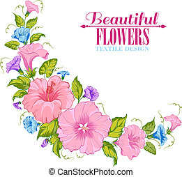 Color garland of flowers