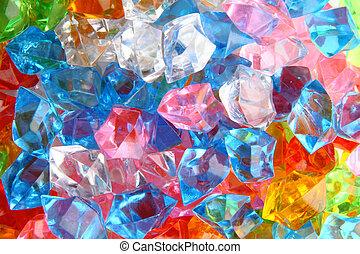 color gems - color plastic gems as nice luxury background