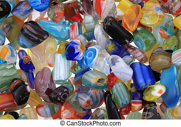 color glass bead texture as nice background