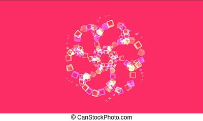 color glass cubes shaped flower