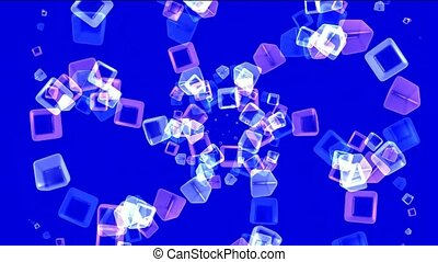color glass cubes shaped flower