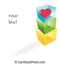 Color glass cubes