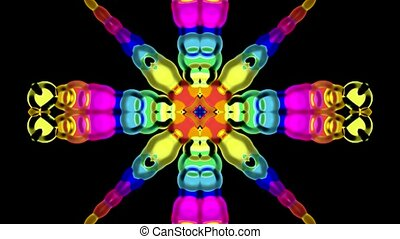 color glass flower pattern,FRP