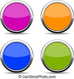 Color glass web button