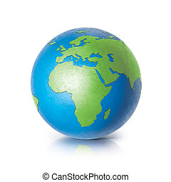 Color globe 3D illustration europe and africa map