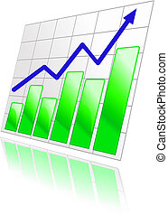 Color graph for design and business concept
