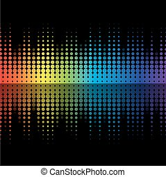 Color graphic equalizer - Abstract music inspired graphic...
