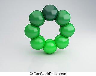Green circle, 3d Illustration