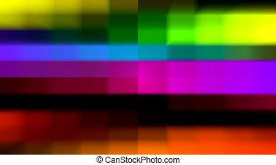 color grid electronic television