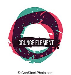 Color grunge abstract background