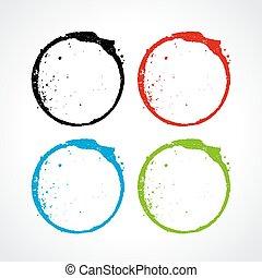 Color grunge circles